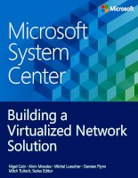 system center building a virtualized network