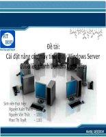 Cài đặt nâng cấp máy tính chạy windows server 2008 lên thành domain controller