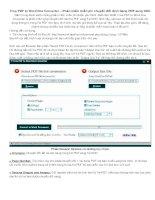 Hướng dẫn sử dụng phần mềm miễn phí chuyển đổi định dạng PDF sang DOC