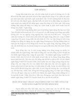 CHUYÊN ĐỀ TỐT NGHIỆP PHÂN TÍCH THỰC TRẠNG HOẠT ĐỘNG CHO VAY TIÊU DÙNG TẠI NGÂN HÀNG No  PTNT HUYỆN MINH HOÁ
