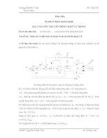 khảo sát và tính toán các tham số cho hệ truyền động tự động- bài tập lớn truyền động điện tự động