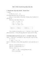 cấu trúc dữ liệu và giải thuật nâng cao bài 2: một số phương pháp sắp xếp