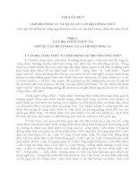 CHUYÊN ĐỀ V  CHẾ ĐỘ CÔNG VỤ VÀ QUẢN LÝ CÁN BỘ, CÔNG CHỨC (Tài liệu bồi dưỡng thi nâng ngạch chuyên viên cao cấp khối Đảng, đoàn thể năm 2013)