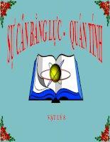 bài giảng vật lý 8 bài 5 sự cân bằng lực-quán tính