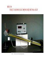 bài giảng vật lý 10 bài 16 thực hành xác định hệ số ma sát