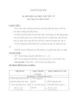 giáo án đại số 8 chương 2 bài 9 biến đổi các biểu thức hữu tỉ. giá trị của phân thức