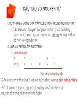 Bài 4: Cấu tạo vỏ nguyên tử