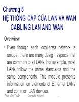 bài giảng mạng máy tính căn bản chương 5 hệ thống cáp của lan và wancabling lan and wan