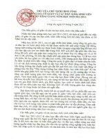 Thu chu tich tinh gui Thay, Co giao nhan ngay khai truong NH 2011-2012