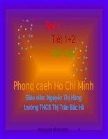 Tiết 1: Văn bản: Phong cách Hồ Chí Minh. Hay