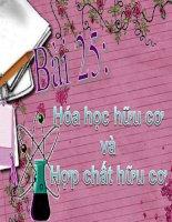 Bai 25 Hoa hoc huu co va hop chat huu co