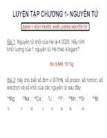 Bài 3: Luyệt tập thành phần nguyên tử