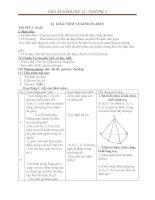 Giáo án hình học 12 chương 1 bài 1 khái niệm về khối đa diện