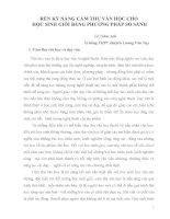 RÈN KỸ NĂNG CẢM THỤ VĂN HỌC CHO HỌC SINH GIỎI BẰNG PHƯƠNG PHÁP SO SÁNH