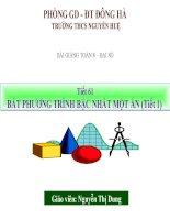 bài giảng đại số 8 chương 4 bài 4 bất phương trình bậc nhất một ẩn