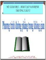 Bài giảng hình học 12 chương 3 bài 3 phương trình đường thẳng trong không gian