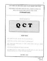 Hội khoa học kỹ thuật về tiêu chuẩn hóa, chất lượng và bảo vệ người tiêu dùng Việt Nam Tập 2