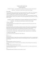 TIÊU CHUẨN QUỐC GIA TCVN 9138:2012 VẢI ĐỊA KỸ THUẬT - PHƯƠNG PHÁP XÁC ĐỊNH CƯỜNG ĐỘ CHỊU KÉO CỦA MỐI NỐI