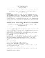 TIÊU CHUẨN QUỐC GIA TCVN 9168 : 2012 CÔNG TRÌNH THỦY LỢI - HỆ THỐNG TƯỚI TIÊU - PHƯƠNG PHÁP XÁC ĐỊNH HỆ SỐ TƯỚI LÚA
