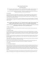 TIÊU CHUẨN QUỐC GIA TCVN 8733:2012 ĐÁ XÂY DỰNG CÔNG TRÌNH THỦY LỢI - PHƯƠNG PHÁP LẤY MẪU, VẬN CHUYỂN, LỰA CHỌN VÀ BẢO QUẢN MẪU ĐÁ DÙNG CHO CÁC THÍ NGHIỆM TRONG PHÒNG