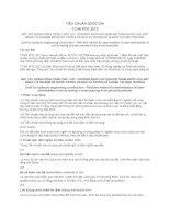 TIÊU CHUẨN QUỐC GIA TCVN 8731:2012 ĐẤT XÂY DỰNG CÔNG TRÌNH THỦY LỢI - PHƯƠNG PHÁP XÁC ĐỊNH ĐỘ THẤM NƯỚC CỦA ĐẤT BẰNG THÍ NGHIỆM ĐỔ NƯỚC TRONG HỐ ĐÀO VÀ TRONG HỐ KHOAN TẠI HIỆN TRƯỜNG