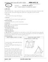 Giáo án HÌNH HỌC 12 (chương trình chuẩn)