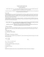 TIÊU CHUẨN QUỐC GIA TCVN 9148:2012 CÔNG TRÌNH THỦY LỢI - XÁC ĐỊNH HỆ SỐ THẤM CỦA ĐẤT ĐÁ CHỨA NƯỚC BẰNG PHƯƠNG PHÁP HÚT NƯỚC THÍ NGHIỆM TỪ CÁC LỖ KHOAN
