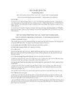 TIÊU CHUẨN QUỐC GIA TCVN 8732:2012 ĐẤT XÂY DỰNG CÔNG TRÌNH THỦY LỢI - THUẬT NGỮ VÀ ĐỊNH NGHĨA