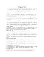 TIÊU CHUẨN QUỐC GIA TCVN 8725 : 2012 ĐẤT XÂY DỰNG CÔNG TRÌNH THỦY LỢI -  PHƯƠNG PHÁP XÁC ĐỊNH SỨC CHỐNG CẮT CỦA ĐẤT HẠT MỊN MỀM YẾU BẰNG THÍ NGHIỆM CẮT CÁNH Ở TRONG PHÒNG