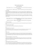 TIÊU CHUẨN QUỐC GIA TCVN 9164:2012 CÔNG TRÌNH THỦY LỢI - HỆ THỐNG TƯỚI TIÊU - YÊU CẦU KỸ THUẬT VẬN HÀNH HỆ THỐNG KÊNH