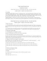 TIÊU CHUẨN QUỐC GIA TCVN 4118 : 2012 CÔNG TRÌNH THỦY LỢI - HỆ THỐNG TƯỚI TIÊU - YÊU CẦU THIẾT KẾ