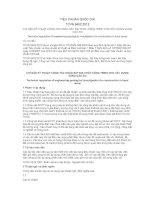 TIÊU CHUẨN QUỐC GIA TCVN 9402:2012 CHỈ DẪN KỸ THUẬT CÔNG TÁC KHẢO SÁT ĐỊA CHẤT CÔNG TRÌNH CHO XÂY DỰNG VÙNG CÁC-TƠ