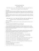 TIÊU CHUẨN QUỐC GIA TCVN 9152 : 2012 CÔNG TRÌNH THỦY LỢI - QUY TRÌNH THIẾT KẾ TƯỜNG CHẮN CÔNG TRÌNH THỦY LỢI