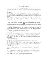 TIÊU CHUẨN QUỐC GIA TCVN 9166 : 2012 CÔNG TRÌNH THỦY LỢI - YÊU CẦU KỸ THUẬT THI CÔNG BẰNG BIỆN PHÁP ĐẦM NÉN NHẸ