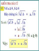 Biến đổi đơn giản biểu thức chưa căn bậc 2
