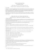 TIÊU CHUẨN QUỐC GIA TCVN 9144 : 2012 CÔNG TRÌNH THỦY LỢI - YÊU CẦU THIẾT KẾ ÂU TÀU