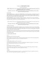 TIÊU CHUẨN QUỐC GIA TCVN 9149:2012 CÔNG TRÌNH THUỶ LỢI - XÁC ĐỊNH ĐỘ THẤM NƯỚC CỦA ĐÁ BẰNG PHƯƠNG PHÁP THÍ NGHIỆM ÉP NƯỚC VÀO LỖ KHOAN