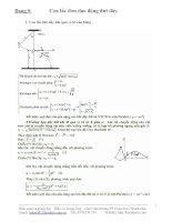 Chuyên đề: con lắc đơn dao động đứt dây tại VTCB, VT góc lệch bất kì