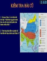 Bài 3:SÔNG NGÒI VÀ CẢNH QUAN CHÂU Á