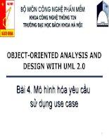 bài giảng mô hình họa sử dụng use case