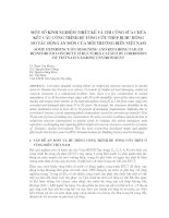 MỘT SỐ KINH NGHIỆM THIẾT KẾ VÀ THI CÔNG SỮA CHỮA KẾT CẤU CÔNG TRÌNH BÊ TÔNG CỐT THÉP BỊ HƯ HỎNG DO TÁC ĐỘNG ĂN MÒN CỦA MÔI TRƯỜNG BIỂN VIỆT NAM