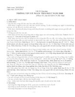 Dạy Tích hợp liên môn ngữ văn 9 Bài Thông tin trái đất năm 2000