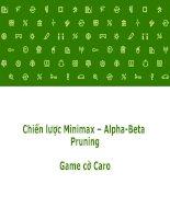 slike thuyết trình  báo cáo môn trí tuê nhân tạo áp dụng minmax và cắt tỉa alpha beta xây dựng trò chơi cờ caro trên ngôn ngữ java