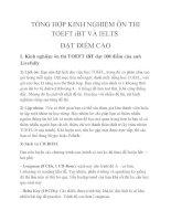 TỔNG hợp KINH NGHIỆM ôn THI TOEFT iBT và IELTS đạt điểm CAO