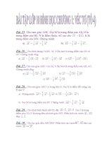 Bài tập lớp 10 chương 1: Vecto ( tổ 4)