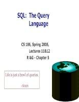 SQL  the query language
