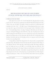 """SKKN: MỘT SỐ GIẢI PHÁP THỰC HIỆN TỐT CUỘC VẬN ĐỘNG  XÂY DỰNG """"TRƯỜNG HỌC THÂN THIỆN, HỌC SINH TÍCH CỰC"""""""