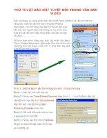 Cách tạo và phá password bảo vệ trong word