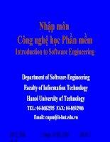 Công nghệ học phần mềm kiểm thử và bảo trì