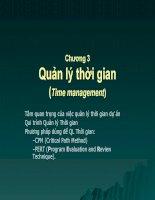 slike quản lý dự án phần mềm chương 2 quản lý thời gian(time management)